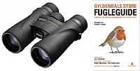 Nikon Monarch 5 10x42 med Gyldendals store fugleguide