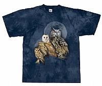 T-Skjorte Uglefamilie str. XXL