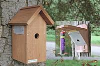Fuglekasse og fuglemater med kamera
