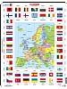 Puslespill - Europakart m/flagg