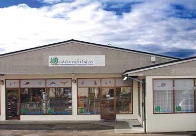 Butikkfronten til vårt lagersalg på Borhaug.