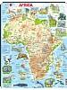 Puslespill - Afrika, kart med dyr